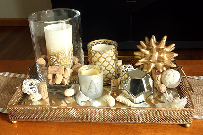 best-coffee-table-decor-for-everyday-with-gold-mirror-tray-regarding-gold-coffee-table-tray-decor